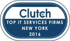 Clutch Award Top IT services in New York